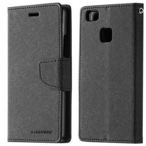 Etui Mercury Goospery Fancy Series kabura Huawei P9 Lite czarne, kolor czarny