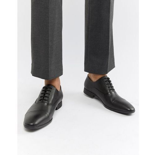 leather brogues in black - black, River island