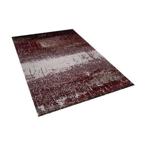 Beliani Dywan czerwono-beżowy 140 x 200 cm krótkowłosy alimos