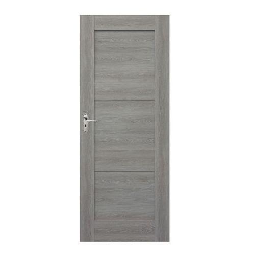 Drzwi pełne Tre 60 prawe dąb szary