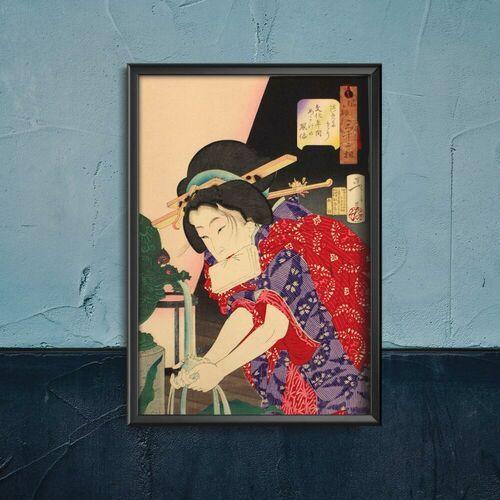 Plakat do pokoju plakat do pokoju kobieta myjąca ręce tsukioka yoshitoshi ukiyo-e marki Vintageposteria.pl