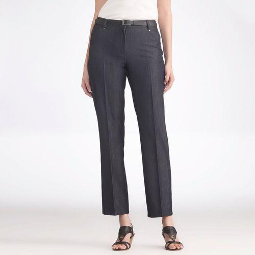 Dżinsy regular, prosty krój, tkanina syntetyczna, jeansy