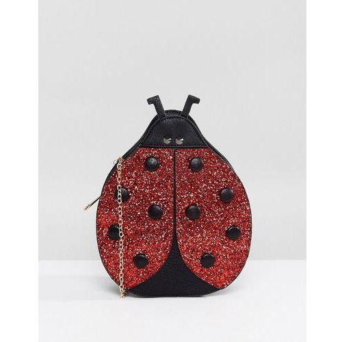 Yoki Novelty Sequin Lady Bird Bag - Red