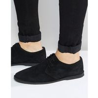 derby shoes in black suede with piped edging - black marki Asos