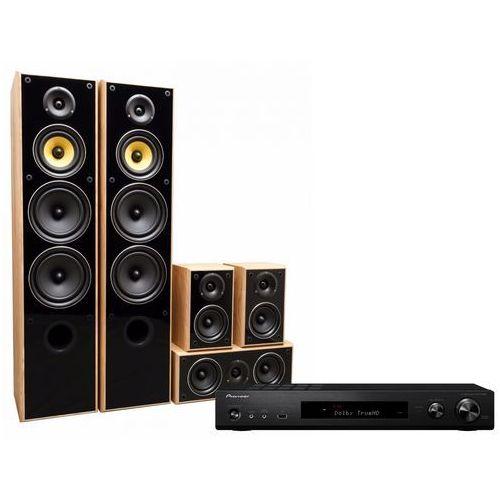 Kino domowe PIONEER VSX-S520-B + TAGA TAV-606 v.3 Dąb (2904368821384)
