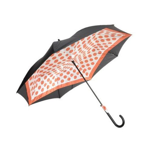 Parasol czarny+pomarańczowy długi marki Perletti