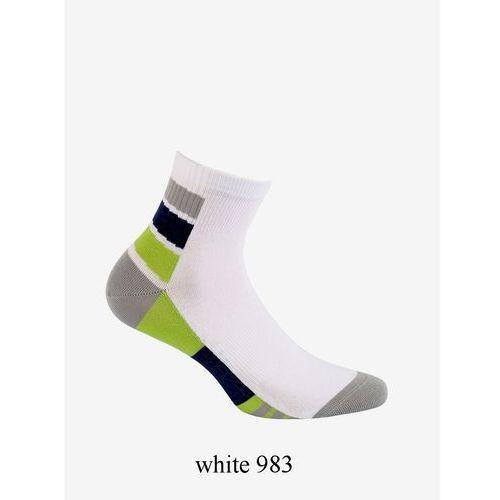 Zakostki Wola W94.1N4 Ag+ 39-41, biały-jeans/whitejean 995, Wola, kolor niebieski