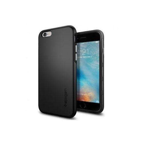 Apple iPhone 6s - etui na telefon Spigen Thin Fit - Smooth Black, ETAP230SGTFBLK000