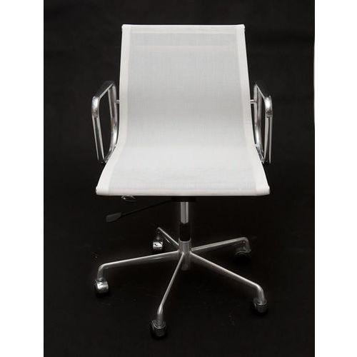 Fotel biurowy ch inspirowany ea117 siateczka, chrom - biały marki D2.design