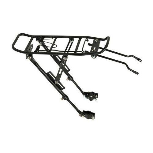 OKAZJA - Bagażnik 20/28 regulowany aluminiowy mocowany na tylnim widelcu pod tarcze czarny (5902270816082)