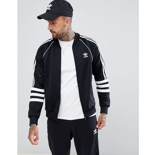 authentic superstar track jacket in black dj2856 - black, Adidas originals