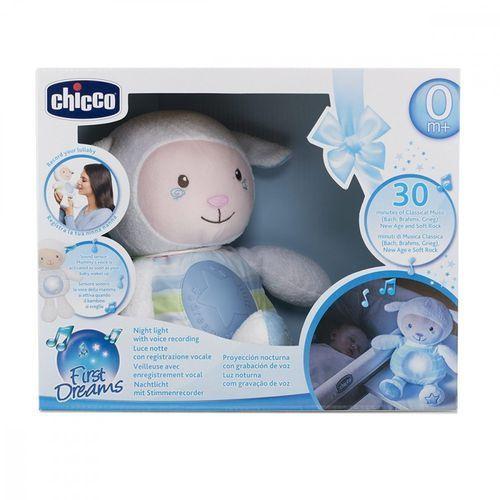 Chicco Owieczka z nocną lampką niebieska (8058664074372)
