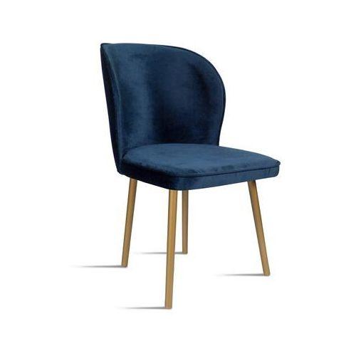 Krzesło rino granatowy/ noga złota/ so263 marki B&d