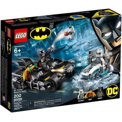Lego SUPER HEROES Mr. freeze vs. batman na batmobilu 76118