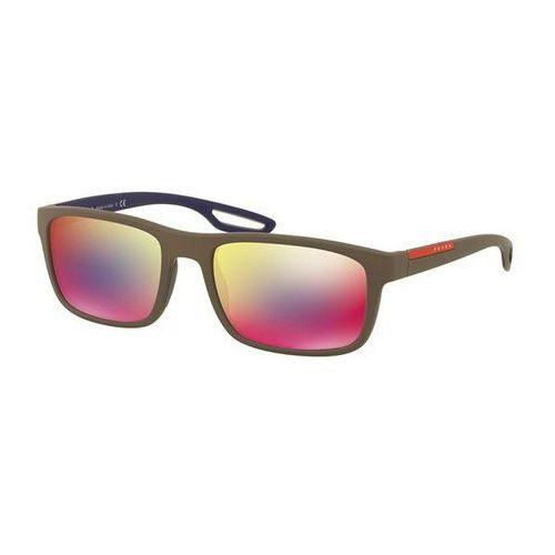 Prada linea rossa Okulary słoneczne ps03rs lj silver ur49q1