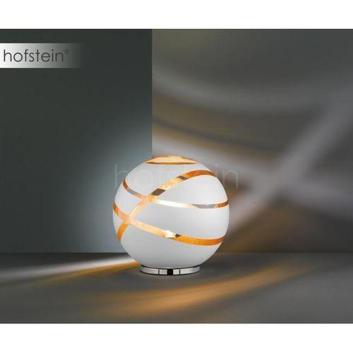Stojąca LAMPKA nocna FARO 506100131 Trio szklana LAMPA stołowa kula ball biała, 506100131