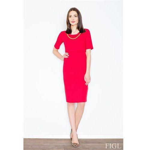 Sukienka model m446 red, Figl