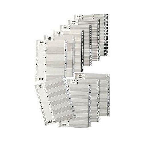 Przekładki plastikowe A4 biale 1-10 Elba Strong Line 100204765