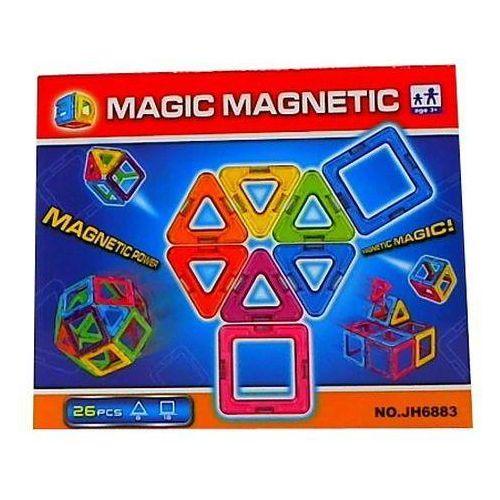 Klocki magnetyczne 26 elementów. 340580