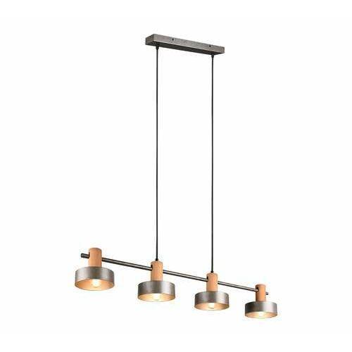 Trio Gaya 309500467 lampa wisząca zwis 4x10W E14 niklowa/drewniana (4017807488951)