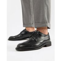 Selected homme leather brogue shoe - black
