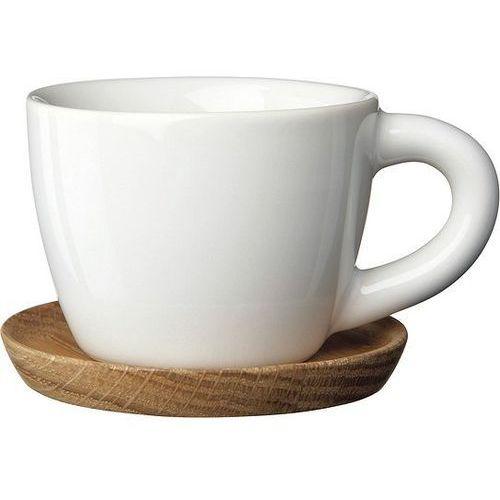 Filiżanka z podstawką do herbaty höganäs keramik biała marki Rorstrand