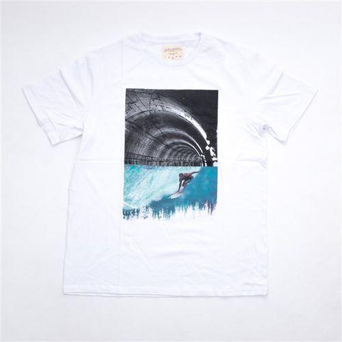 Tričko - gday bday tee optical white (3262) rozmiar: xl marki Rip curl