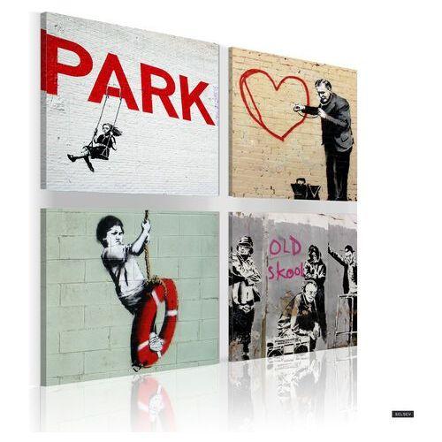 SELSEY Obraz - Banksy - miejskie inspiracje 80x80 cm (5902622543666)