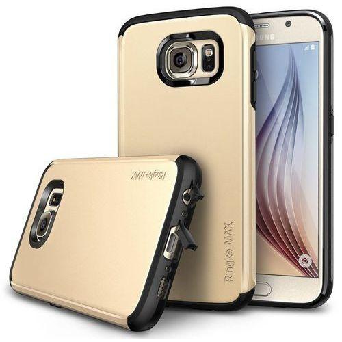 Oryginalne etui obudowa Rearth Ringke Max Royal Gold + folia ochronna dla Samsung Galaxy S6 - Brązowy, 8809419557073