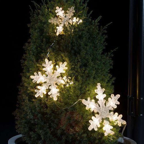 Trzyczęściowy łańcuch świetlny LED Płatek śniegu