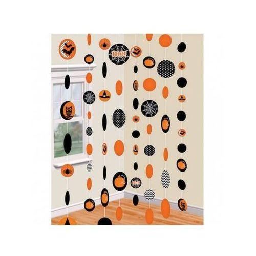 Dekoracja wisząca dynie i nietoperze na halloween - 180 cm - 8 szt. marki Amscan