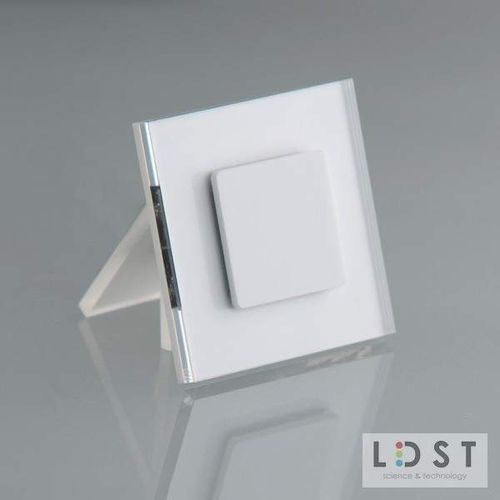 LDST Oprawa LED JULIA 8LED 230V 1,2W: Barwa światła - zielona, Kolor oprawy - biały JU-01-B-ZI8 - Autoryzowany partner LDST, Automatyczne rabaty.