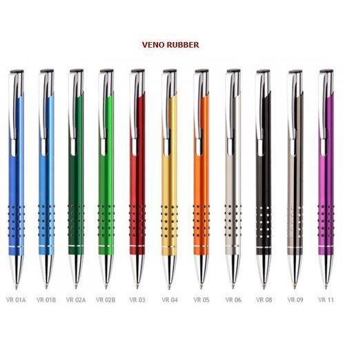 Długopisy metalowe veno rubber + dowolny grawer laserem marki Grawernia.pl - grawerowanie i wycinanie laserem
