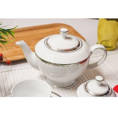Porcelana bogucice Bgh serwis herbaciany 21/6 victoria platin