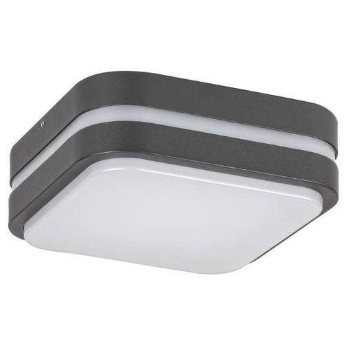 Sufitowa LAMPA zewnętrzna HAMBURG 8849 Rabalux ogrodowa OPRAWA kwadratowa LED 10W 4000K kinkiet outdoor IP44 grafitowy biały (1000000582109)