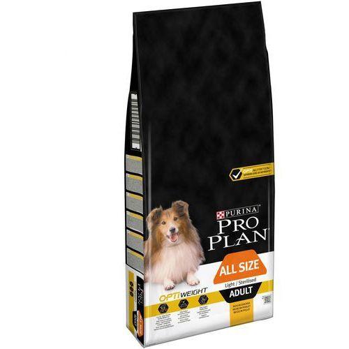 Podwójne punkty bonusowe: Duże opakowanie Purina Pro Plan dla psa - Adult Light Optiweight Sterilised, kurczak i ryż, 14 kg (7613035122819)