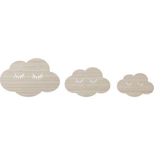 Dekoracja ścienna mini chmury 3 szt. marki Bloomingville