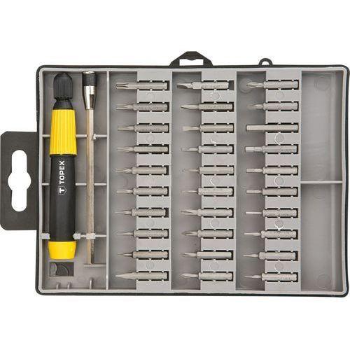 Zestaw końcówek wkrętakowych TOPEX 39D555 precyzyjne z uchwytem (32 elementy)