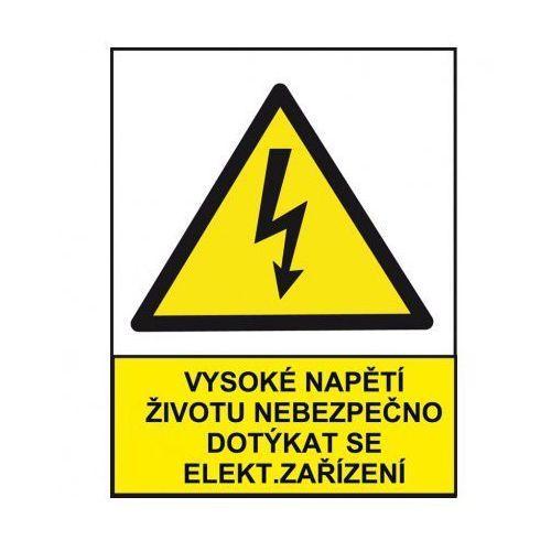 Wysokie napięcie niebezpieczne dla życia przy dotykaniu urządzeń elektrycznych