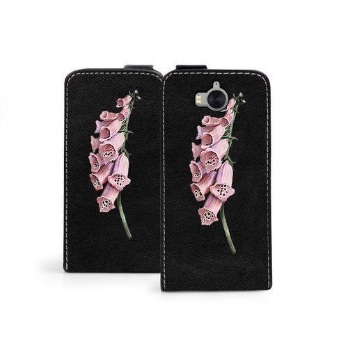 Huawei Y6 (2017) - etui na telefon Flip Fantastic - czerwone kwiaty, ETHW560FLFCEF001000