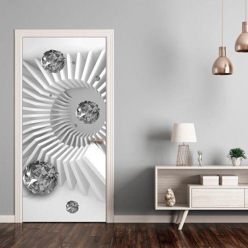 Fototapeta na drzwi - tapeta na drzwi - czarno-biała abstrakcja marki Artgeist