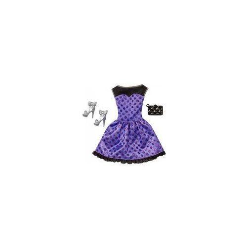 Barbie sukienka z dodatkami Mattel (granatowo-fioletowa)