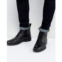 Dead Vintage Lace Up Boots In Black Leather - Black