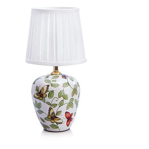 Lampa lampka oprawa stołowa Markslojd Mansion 1x40W E14 biała/wzór/kwiaty 107039 >>> RABATUJEMY do 20% KAŻDE zamówienie!!!, 107039