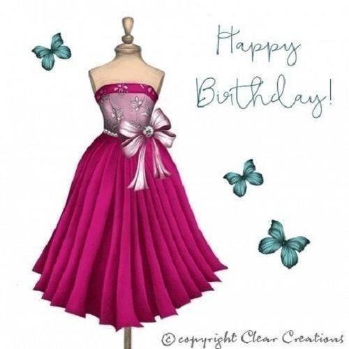 Clear creations Karnet swarovski kwadrat cl0306 urodziny sukienka (5060215591965)