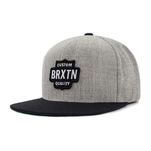 czapka z daszkiem BRIXTON - Garth Snbk Light Heather Grey/Black (LHGBK) rozmiar: OS, kolor czarny