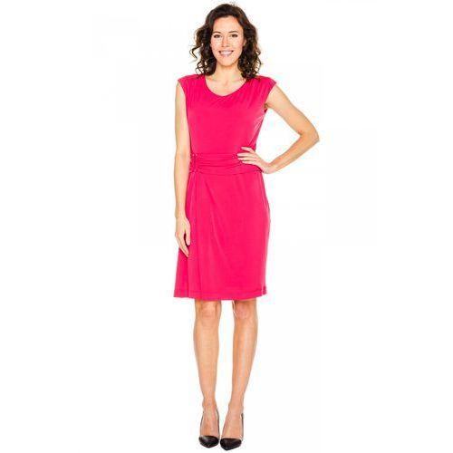 Elegancka sukienka z podkreśloną talią - Vito Vergelis, kolor czerwony