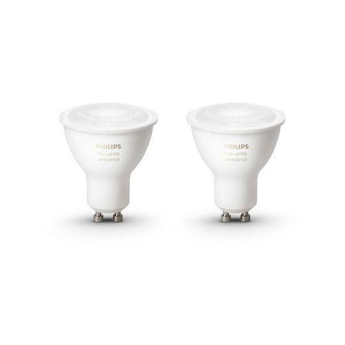 Żarówka LED PHILIPS 8718696671184 Hue Białe światło GU10 (2 sztuki) + DARMOWY TRANSPORT! (8718696671184)