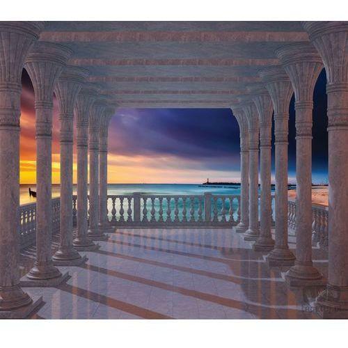 Consalnet Fototapeta kolumnada – widok na zachodzące słońce nad bałtykiem 1368