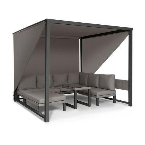 Blumfeldt havanna, pawilon/zestaw wypoczynkowy, 270 x 230 x 270 cm, cztery 2-osobowe kanapy, szary
